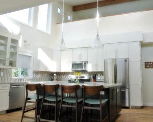 hanging lights in kitchen