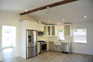 small kitchen with appliances