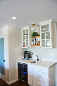 hanging cabinets with glass