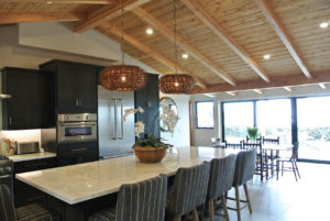 pitched ceiling kitchen