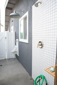 Carlsbad Interior Design, Patio, Outdoor Living, Carlsbad Remodel, Design Build, General Contractor, Urinal, Outdoor Shower