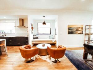 nook, breakfast nook, mid century modern, interior designer, san diego designer, general contractor
